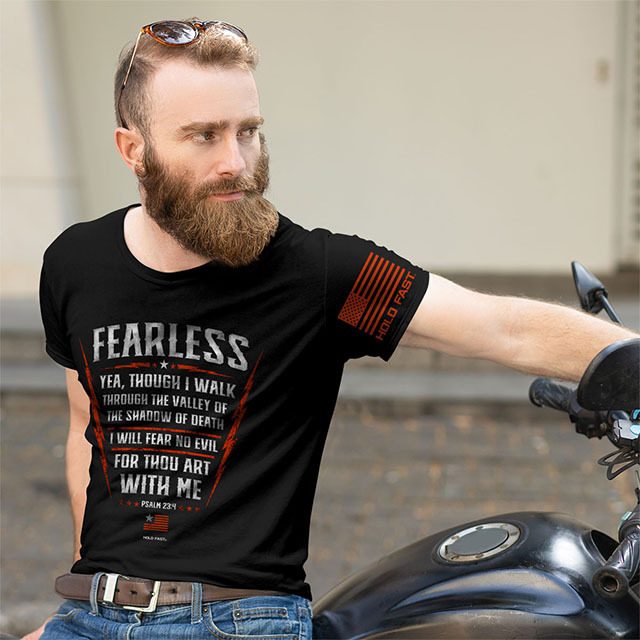 Hold Fast Christian T Shirts Fearless